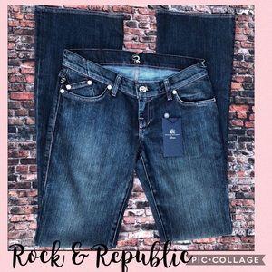 Rock & Republic Jeans w/jewel embellishments
